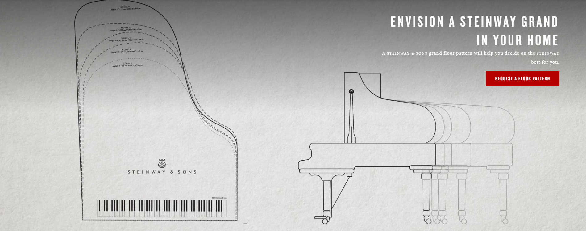 Envision A Steinway Grand In Your Home Sons Piano Diagram With Notes Find Which Fits Perfectly Space Template Or Book An Appointment Our Complimentary Specialist Who Can Help You
