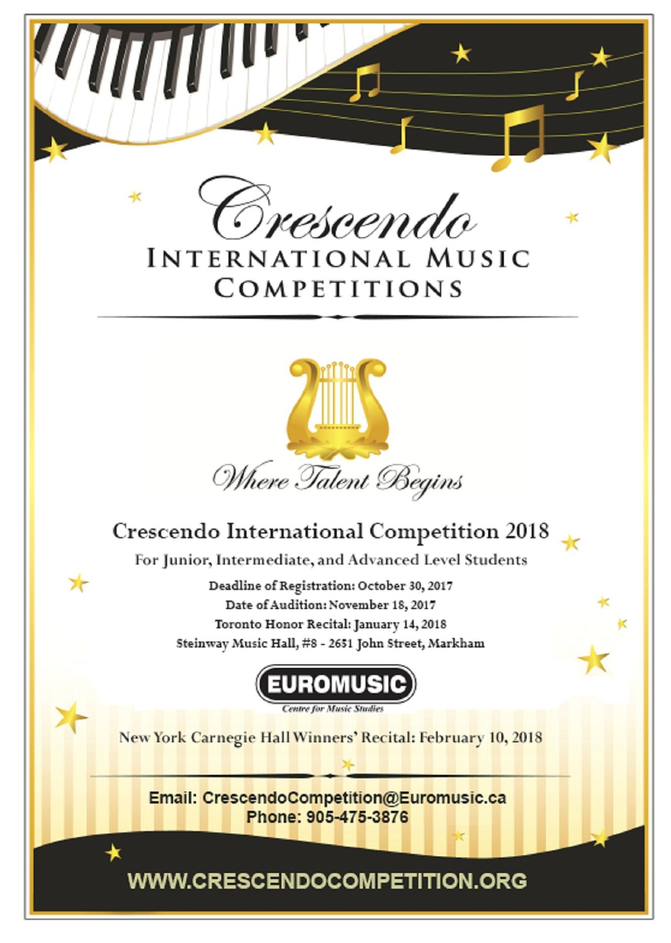 Crescendo International Competition 2018 - Steinway & Sons